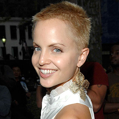 Celebrity head shaved