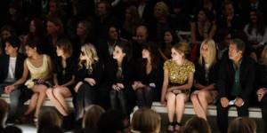 Celebrities at the A/W Fashion Shows